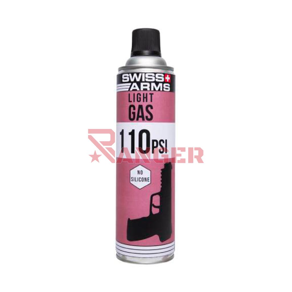 BOTELLA GAS SWISS ARMS LIGHT GAS 110PSI S/SILICONA 450ML MORADA