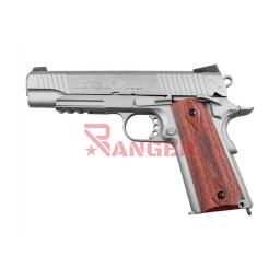 [288508] PISTOLA SWISS ARMS P1911 RAIL 4.5MM CO2 PLATA-MADERA