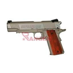 [288509] PISTOLA SWISS ARMS P1911 4.5MM CO2 PLATA-MADERA