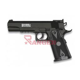 [288708] PISTOLA SWISS ARMS P1911 4.5MM CO2 NEGRA