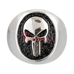 ANILLO PUNISHER PLATA-NEGRO
